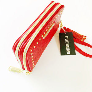 NWT Steve Madden Red Clutch/wallet.